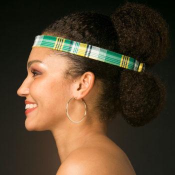 Headband Zapatane - Tissu Madras Vert