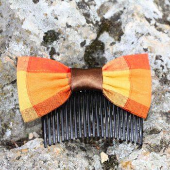 Noeud Olivia - Madras Orange Bruni