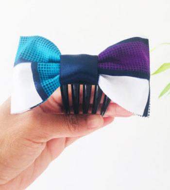 Noeud Olivia Wax - Bleu/Violet