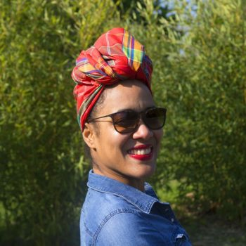 Turban BiBi - Madras Rouge