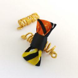 Bague Sésé - Wax Jaune et Orange