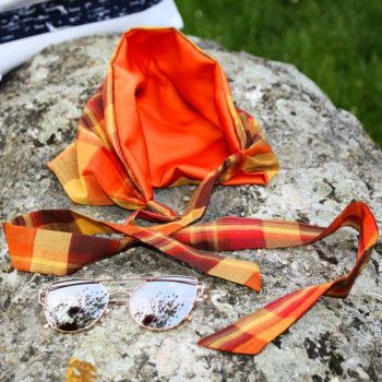 Bandeau Rosie Madras - Orange Bruni