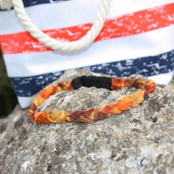 Headband tressé Cyn - Madras Orange Bruni