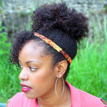 Headband Cyn - Madras Orange Bruni
