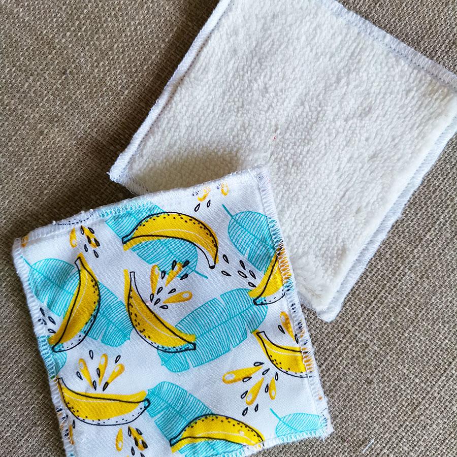 Lingettes lavables - Imprimé Banana