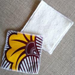 Lingettes lavables - Wax Fleur de mariage