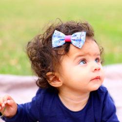 Noeud Olivia Enfant - Liberty Bleu