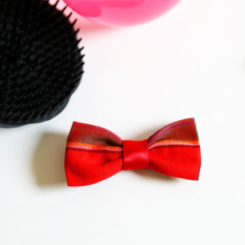 Noeud Olivia Enfant - Madras rouge