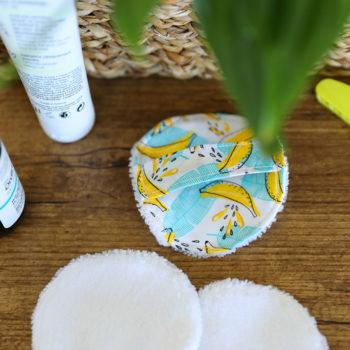 Disque démaquillant lavable - Imprimé Banana