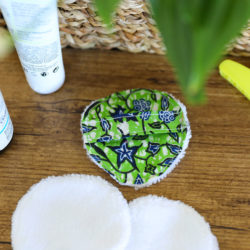 Disque démaquillant lavable - Wax Vert et Bleu