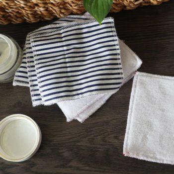 Lingette lavable - Marinière