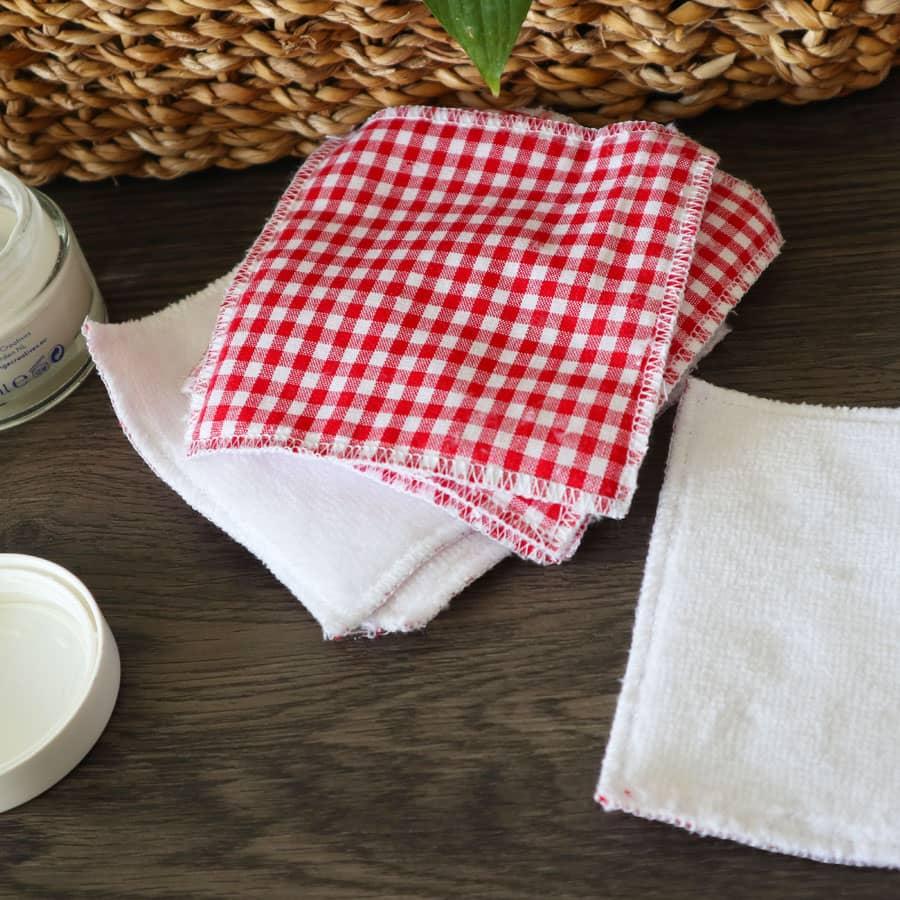 Lingette lavable - Vichy