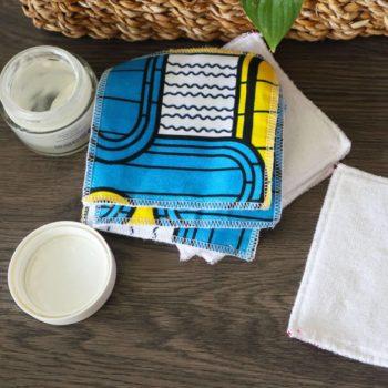 Lingette lavable Wax Jaune et Bleu