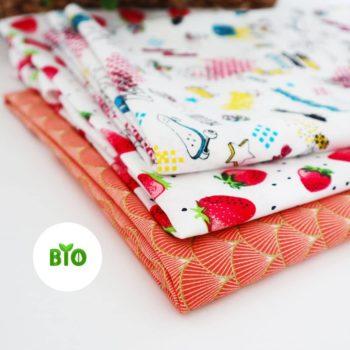 Tissus coton BIO des bandeaux Rosie